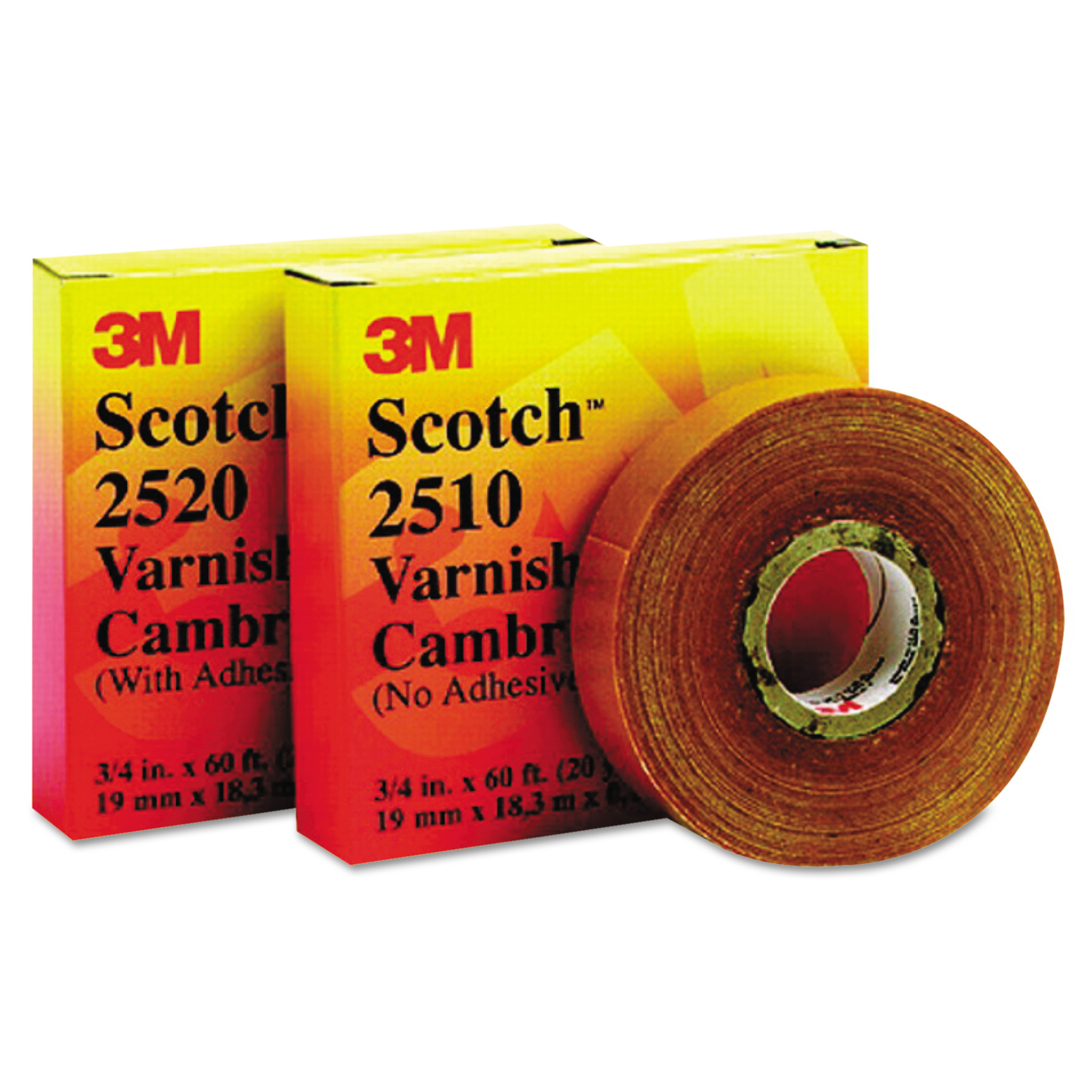 "3M Scotch 2520 Varnished Cambric Tape, 3/4"" x 60ft -MMM04836"