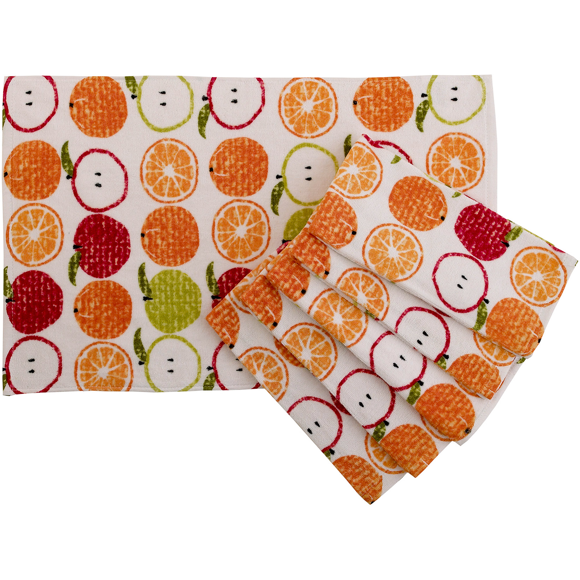 mainstays fruit kitchen towel, set of 6 - walmart