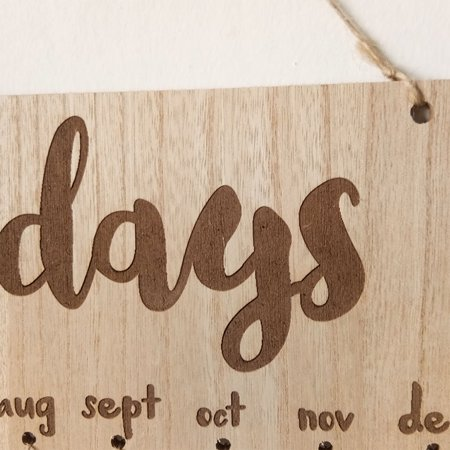 Wooden Calendar Birthdays Round Printed Lowercase Wall Calendar Sign Special Dates Reminder Board Home Hanging Decor Gift Style:As shown - image 6 de 7