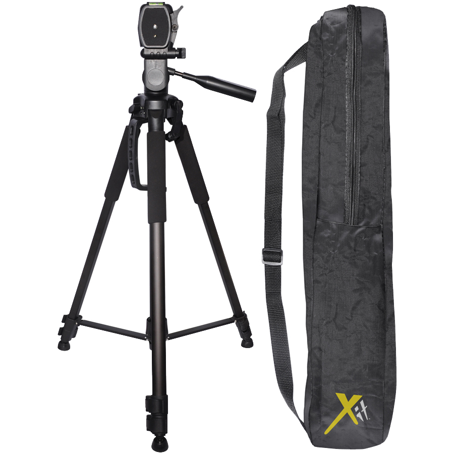 "Xit Elite Series 72"" DSLR Camera Tripod with Quick Release & Case (Black)"