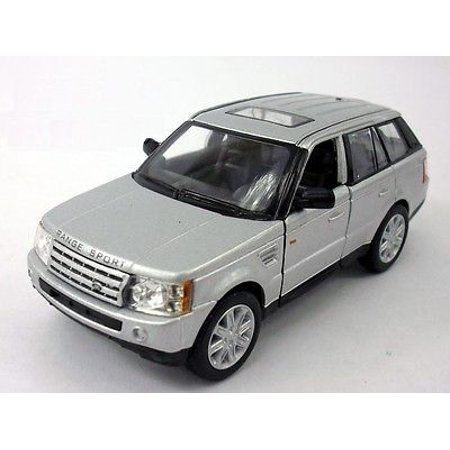 "5"" Kinsmart Land Rover Range Rover Sport Diecast Model Toy SUV 1:38 Silver"