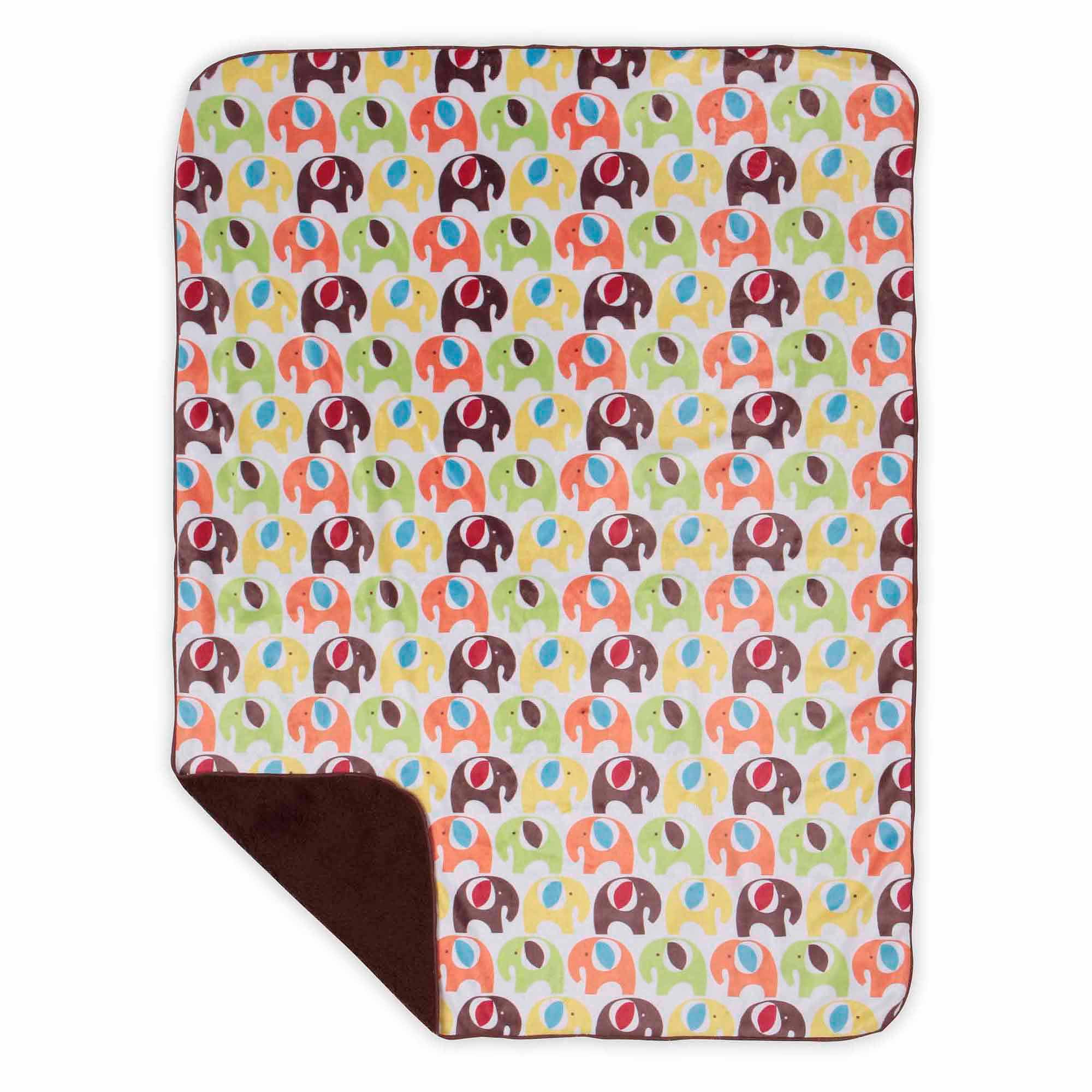 Bananafish Studio Elephant Print Minky Reversible Blanket
