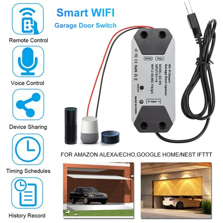 2.4GHz WiFi Smart Switch Garage Door Opener Smart Home Remote Controller for Alexa for Google Home for Echo APP Control - image 1 of 8