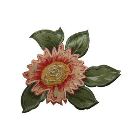 ID 6308 Pink Marigold Flower Patch Garden Sun Spring Silk Screen IronOn Applique (Marigold Silk)