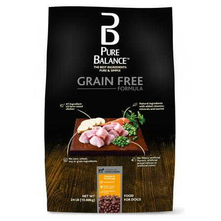 Pure Balance Grain-Free Dry Dog Food Formula, Chicken & Pea, 24-Pound
