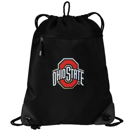 Ohio State University Drawstring Bag TWO SECTION OSU Buckeyes Cinch Pack Backpack - Unique Mesh & Microfiber