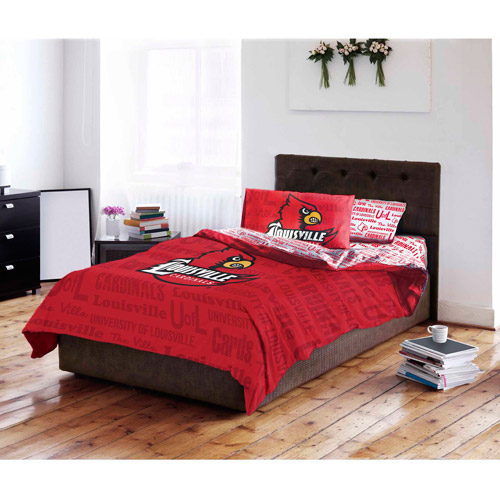 NCAA University of Louisville Cardinals Bed in a Bag Complete Bedding Set