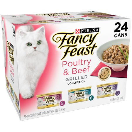 Purina Fancy Feast Grilled Poultry & Beef Collection Cat Food 24-3 oz. Cans