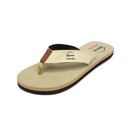 alpine swiss men's flip flops beach sandals lightweight eva sole comfort thongs Athletic Eva Sole Flip Flops