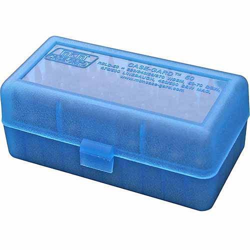 MTM RM Flip Top, 50-Round Ammo Case, Blue