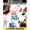 3 Count The Secret Life of Pets 4K Ultra HD + Blu-ray + Digital