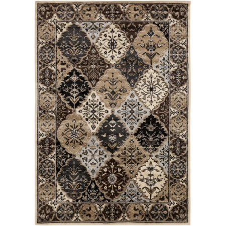 2 X 3 Patchwork Quilt Brown Black And Gray Shed Free