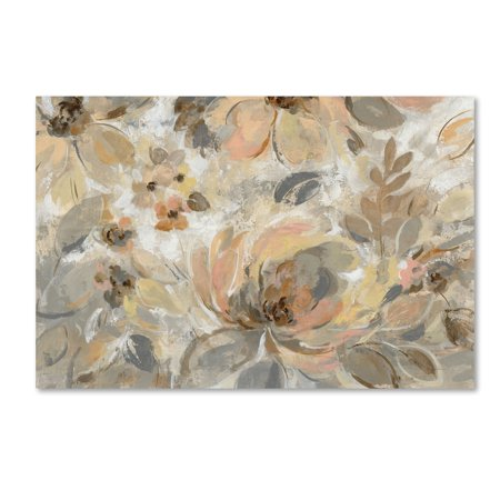 Trademark Fine Art 'Ivory Floral' Canvas Art by Silvia Vassileva