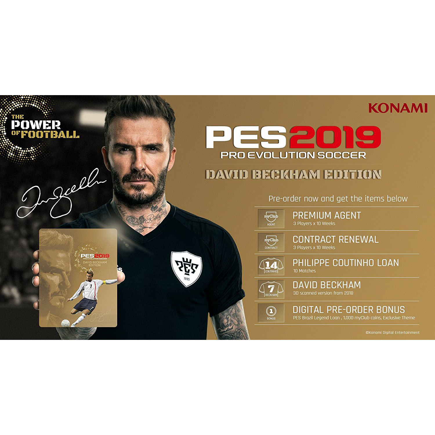 Pro Evo Soccer 2019: David Beckham Edition, Konami, PlayStation 4, 083717203377