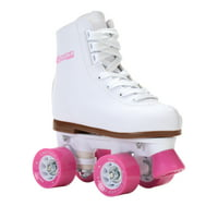 Chicago Girls' Classic Quad Roller Skates White Junior Rink Skates, Sizes J10-4