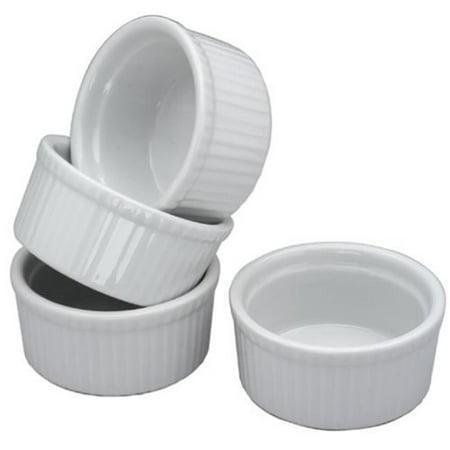 Bia Cordon Bleu 900012 4.5 oz White Porcelain Ramekin, Pack of 4