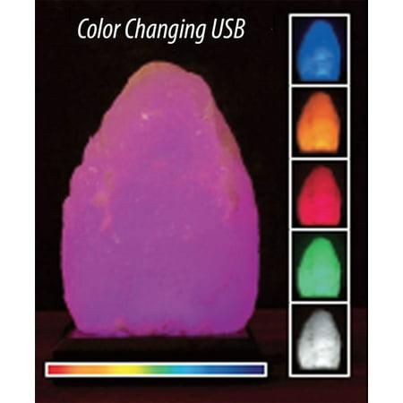- Aloha Bay - Himalayan Salt Lamps, USB 5 Color Changing LED