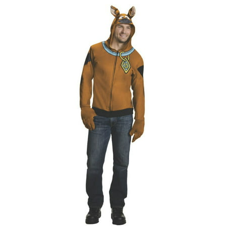 Halloween Adult Scooby Doo Hoodie Costume (Scoobydoo Costumes)