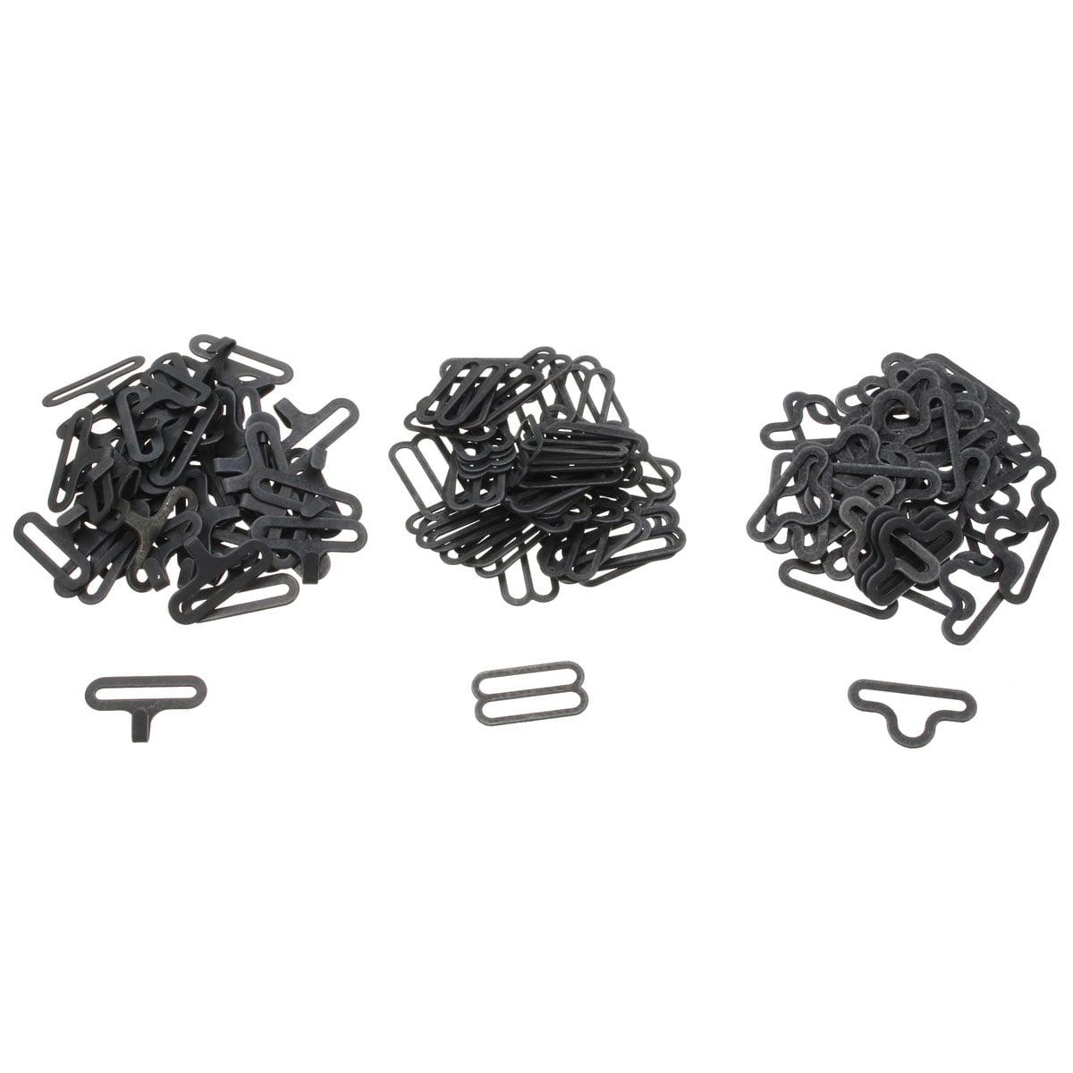 Bow Tie Clip Metall verstellbare Fliege Hardware Krawatte Clip Haken Verschluss for Krawattengurt 50sets schwarz Bow Tie Clips
