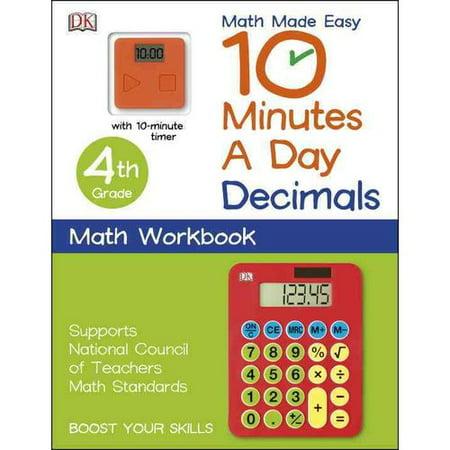 10 Minutes a Day Decimals 4th Grade