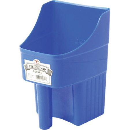 Little Giant 150415 Feed Scoop, 3 qt Capacity, Stackable Handle, Polypropylene, Blue