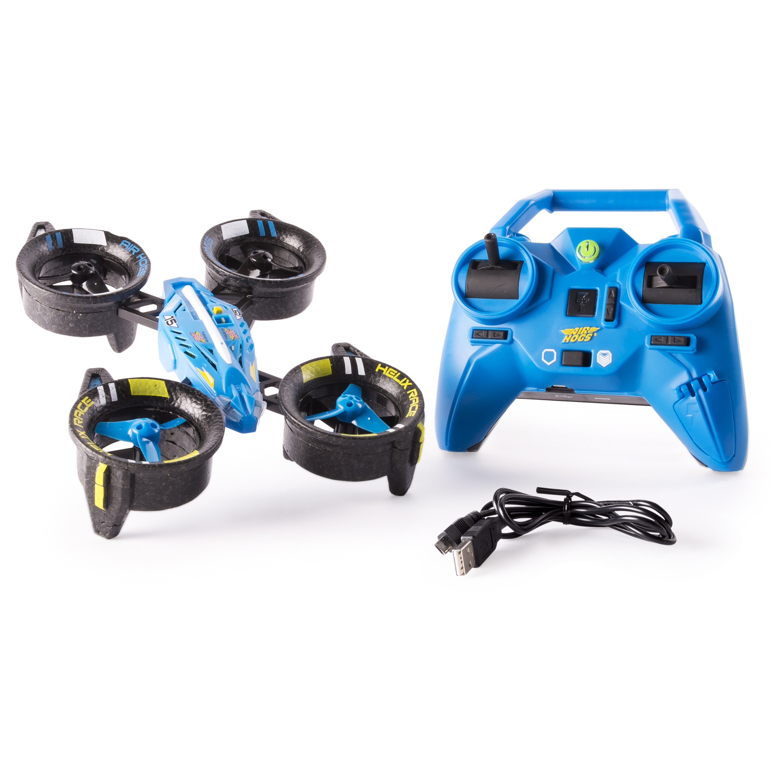 Air Hogs, Helix Race Drone, 2.4 GHZ, Blue RC Vehicle