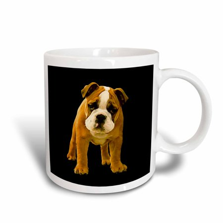 3dRose Bulldog Puppy, Ceramic Mug, 11-ounce ()