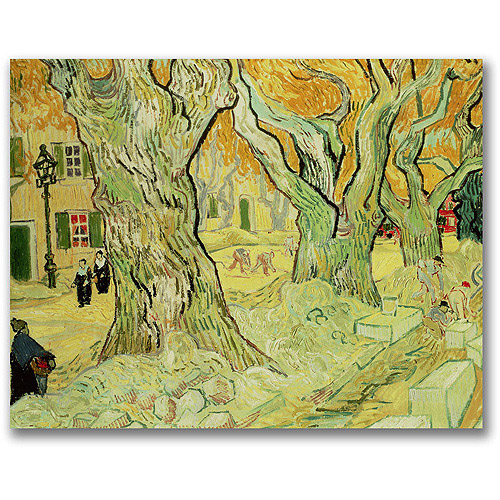 "Trademark Fine Art ""The Road Menders, 1889"" Canvas Wall Art by Vincent van Gogh"