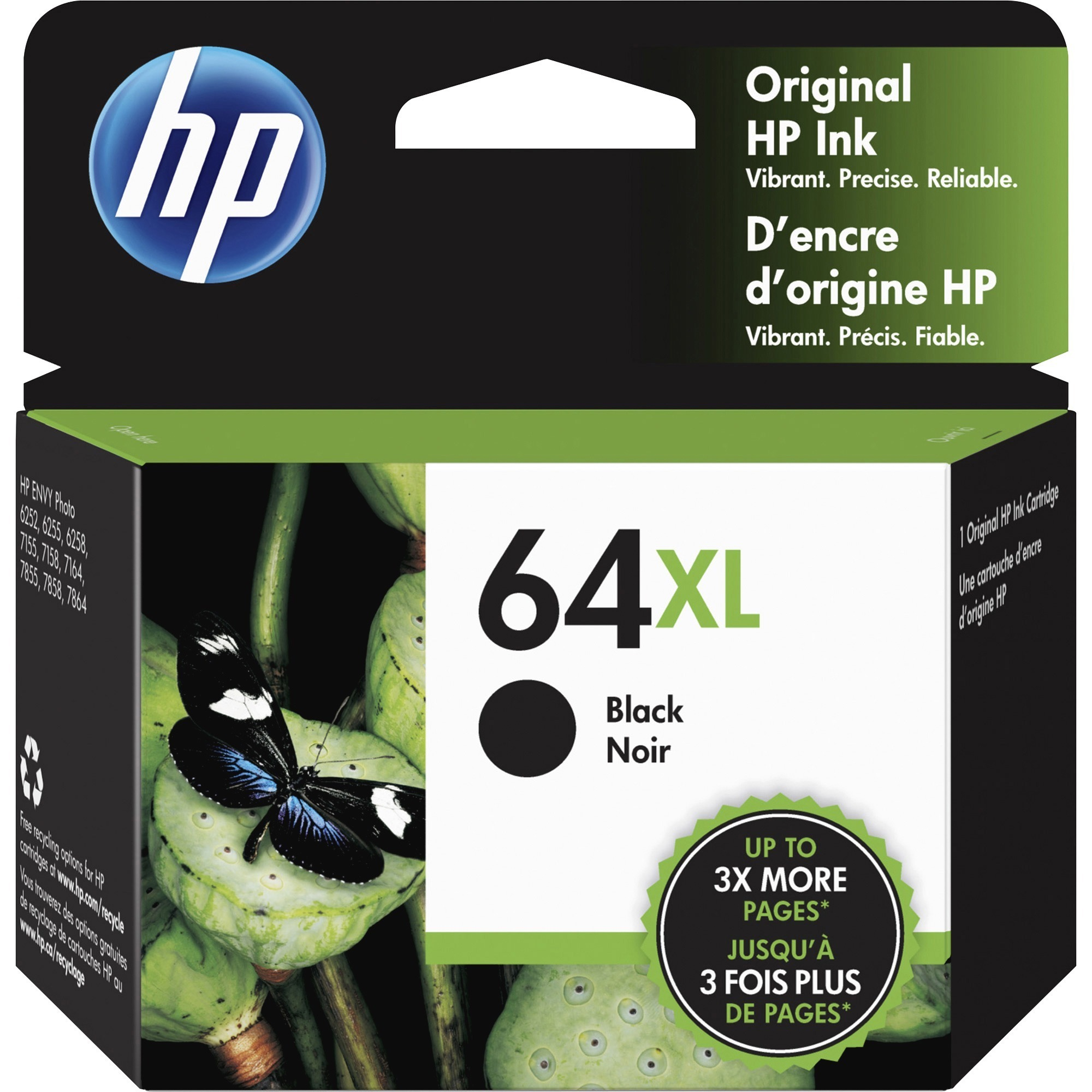 Black Tri-Color F6U62AN HP 63 F6U61AN 2 Ink Cartridges with 150 Sheets of 8.5x11 Paper