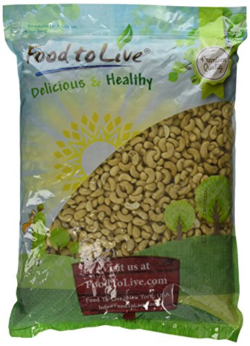 Food To Live Cashews (Whole, Raw) (8 Pounds) by Food To Live