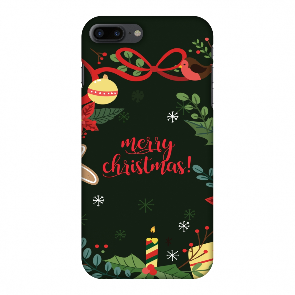 iPhone 8 Plus Case - Christmas Cheer 1, Hard Plastic Back Cover. Slim Profile Cute Printed Designer Snap on Case with Screen Cleaning Kit
