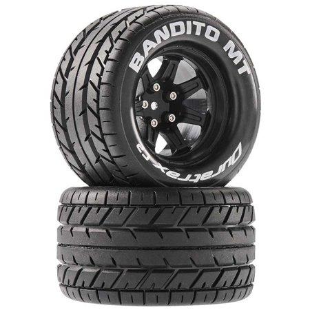 Duratrax Bandito MT 2.8 Mounted Tires,Black 14mm Hex (2), DTXC5250 ()