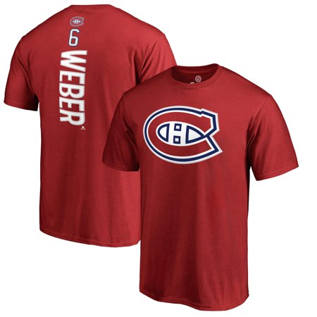 Shea Weber Montreal Canadiens Fanatics Branded Backer Name & Number T-Shirt - Red Montreal Canadiens Snap