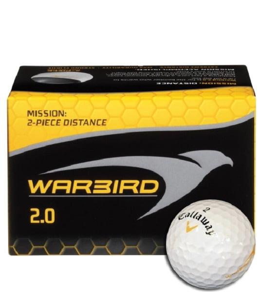 Callaway Warbird 2.0 Golf Balls 12 pack 2 Piece Golf Ball For Distance & Feel