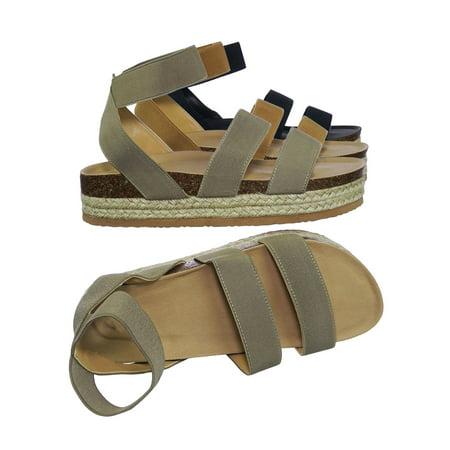 Skull Platform Sandals (Atarah04 by Forever Link, Elastic Modern rugged Espadrille Flatform Platform Open Toe Sandal)
