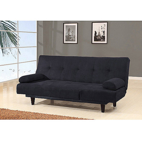 Barcelona Convertible Futon Sofa Bed and Lounger with Pillows, Multiple Colors