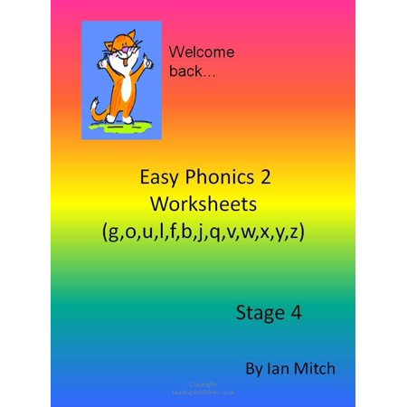 Easy Phonics 2 Worksheets (g,o,u,l,f,b,j,q,v,w,x,y,z) - eBook (Halloween Worksheet Grade 2)