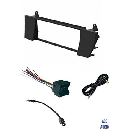 ASC Car Stereo Install Dash Kit, Wire Harness, and Antenna Adapter Dash Kit And Wiring Harness on