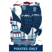 """Marmont Hill """"Pirates Only"""" by Curtis Painting Print on Canvas"""
