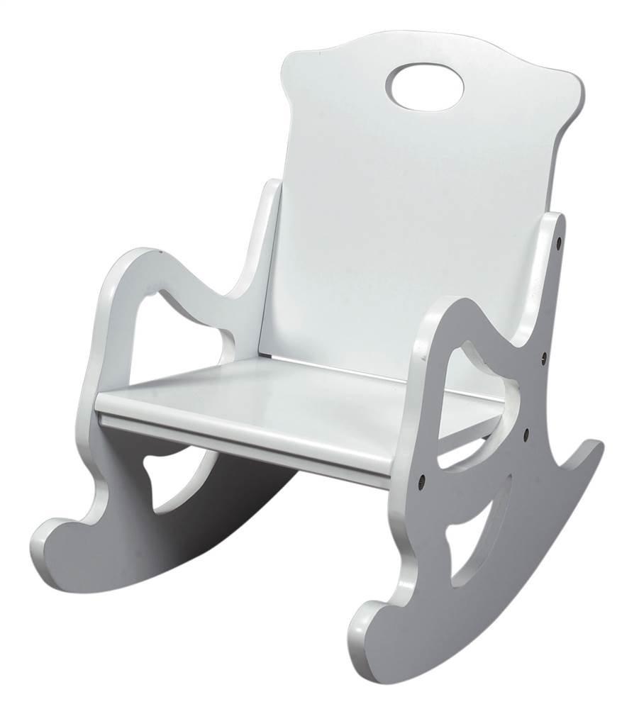 Kids Wood Rocking Chair W White Finish