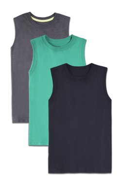 547272a4 Product Image Fruit of the Loom Soft Sleeveless Muscle Shirts, Multi-Color  3 Pack Value Set