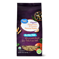 Great Value Gluten-Free Organic Brown Rice & Quinoa Penne Pasta, 16 oz