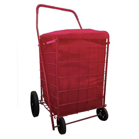 Image of Folding SHOPPING CART LINER insert WATER PROOF with cover in 3 Color (Liner Only) (Red)