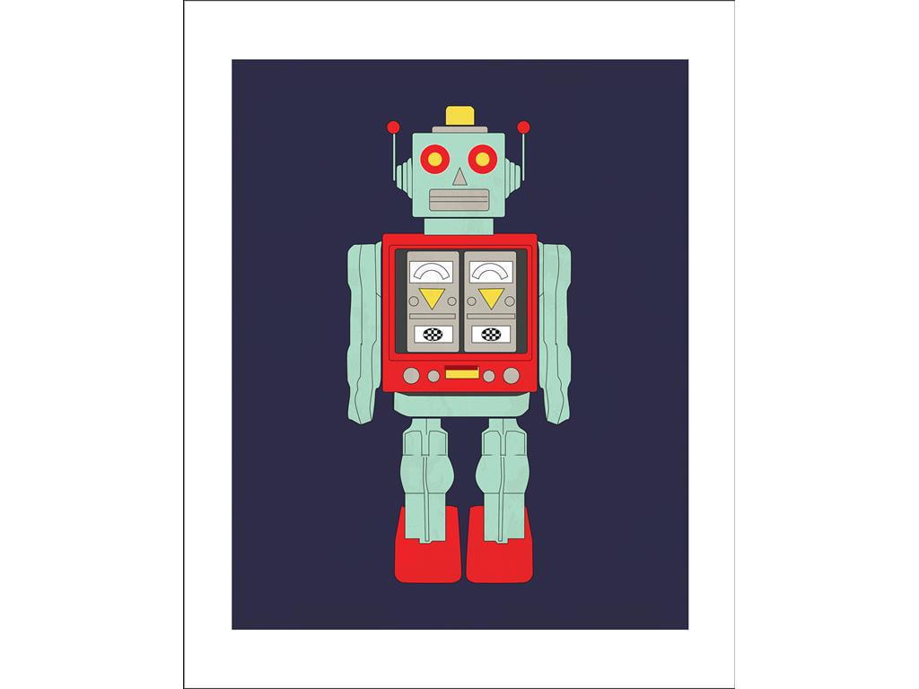 Carta Bella Space Academy Art Print 8x10 Robot by Echo Park Paper Company