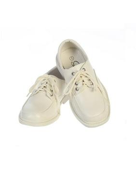 Little Boys Ivory Matte Lace-Up Closure David Dress Shoes 13 Kids