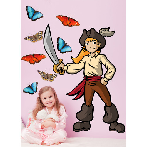 Wallhogs Winn Pirate Girl II Cutout Wall Decal