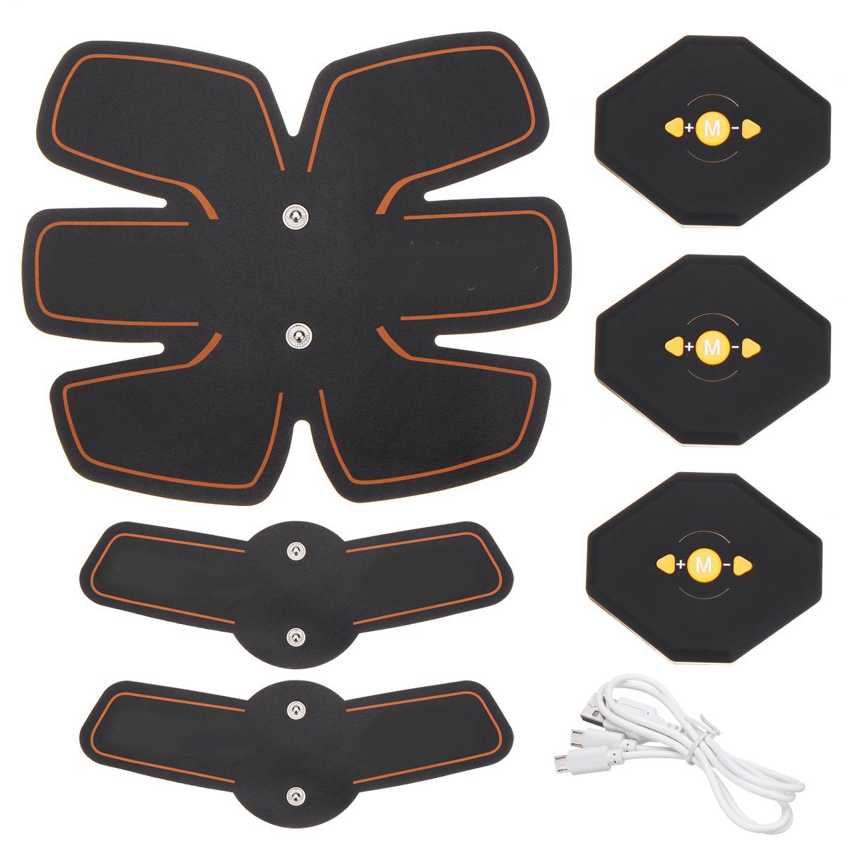 Abdomen+Arm Lap Abs Muscle Stimulator Toning Belt Training Exercise Fitness Electrical Body Shape Trainer ABS Set