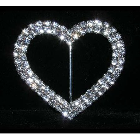 """#14581 - 2 Row 2.25"""" Heart Buckle"""