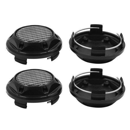 4pcs Black 68mm Dia 4 Clips Wheel Tyre Center Hub Caps Cover for Car Vehicle - image 3 of 3