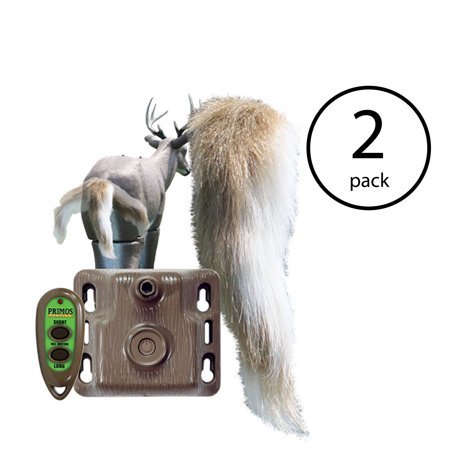 Primos Hunting Waggin' Whitetail Remote Control Motion Tail Deer Decoy (2
